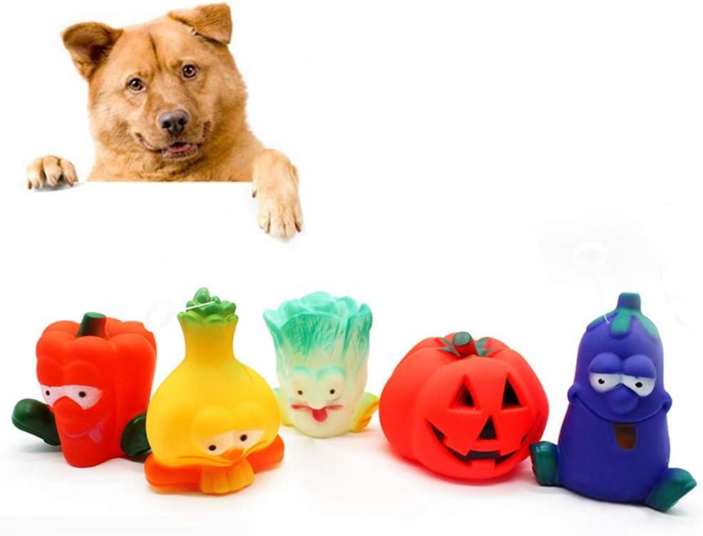 quanju cheer Halloween Pumpkin Dog Bites Funny Cat Vinyl Sound Toy Juguete para Mascotas Vegetable Sound Toy Teddy Dog Teeth Puppy Toy Berenjena**
