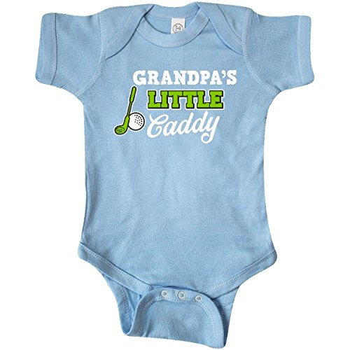 inktastic - Grandpas Little Caddy with Infant Creeper 6 Months Baby Blue 2c5c9