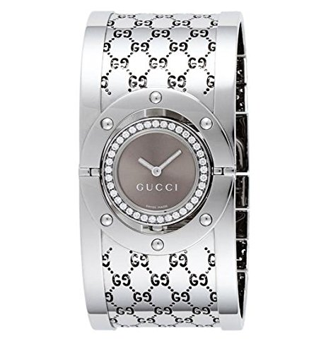 Twirl Steel Watch - GUCCI Women's YA112416 Twirl Brown Dial Watch