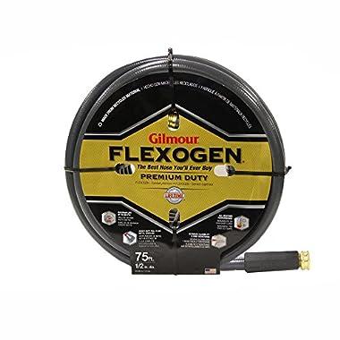 Gilmour 10 Series 8 Ply Flexogen Hose 1/2 Inch x 75 Feet 100-12075 Grey