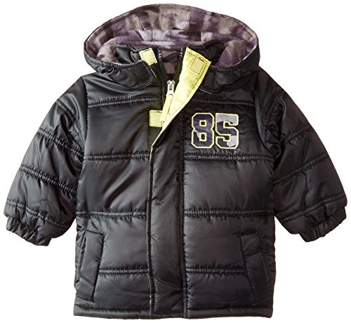 ixtreme-baby-boys-rip-stop-puffer-with-applique-black-12-months