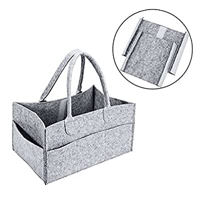 Baby Diaper Holder | Eco-Friendly Unisex Nursery Storage Bin and Versatile Car Organizer for Pampers, Bottles and Baby Wipes by Taboodle