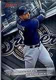 2016 Bowman's Best #23 Ryan Braun Milwaukee Brewers Baseball Card in Protective Screwdown Display Case