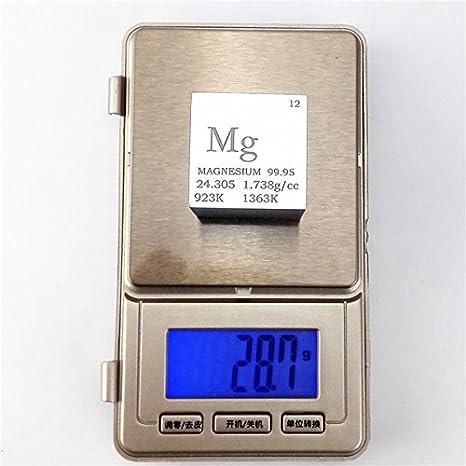 1 (25,4 mm magnesio Metal cubo 28 G 99,95% grabado tabla periódica: Amazon.es: Industria, empresas y ciencia