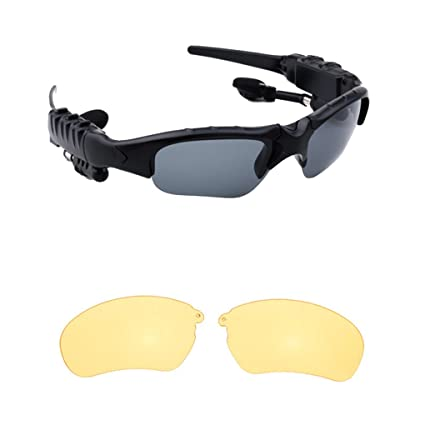 eb868cae4055 Image Unavailable. Image not available for. Color  Smart Stereo Bluetooth  4.1 Glasses Headset Headphones Wireless Sports ...