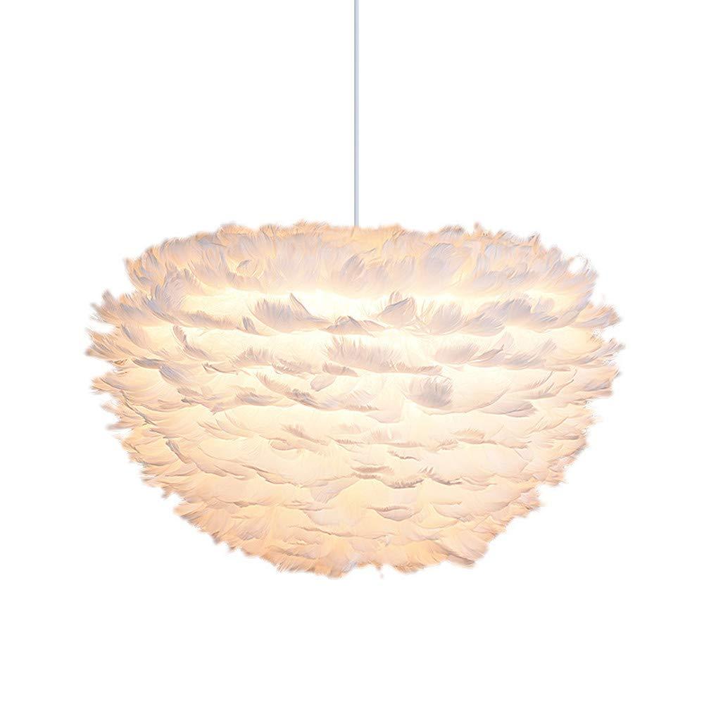 Sonmer Modern Pendant Light Feather Shade Chandelier Ceiling Light
