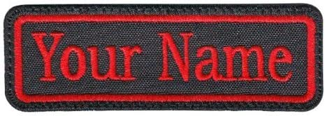 Rectangular 1 Line Custom Embroidered Name Tag Iron//Sew on Patch Colors
