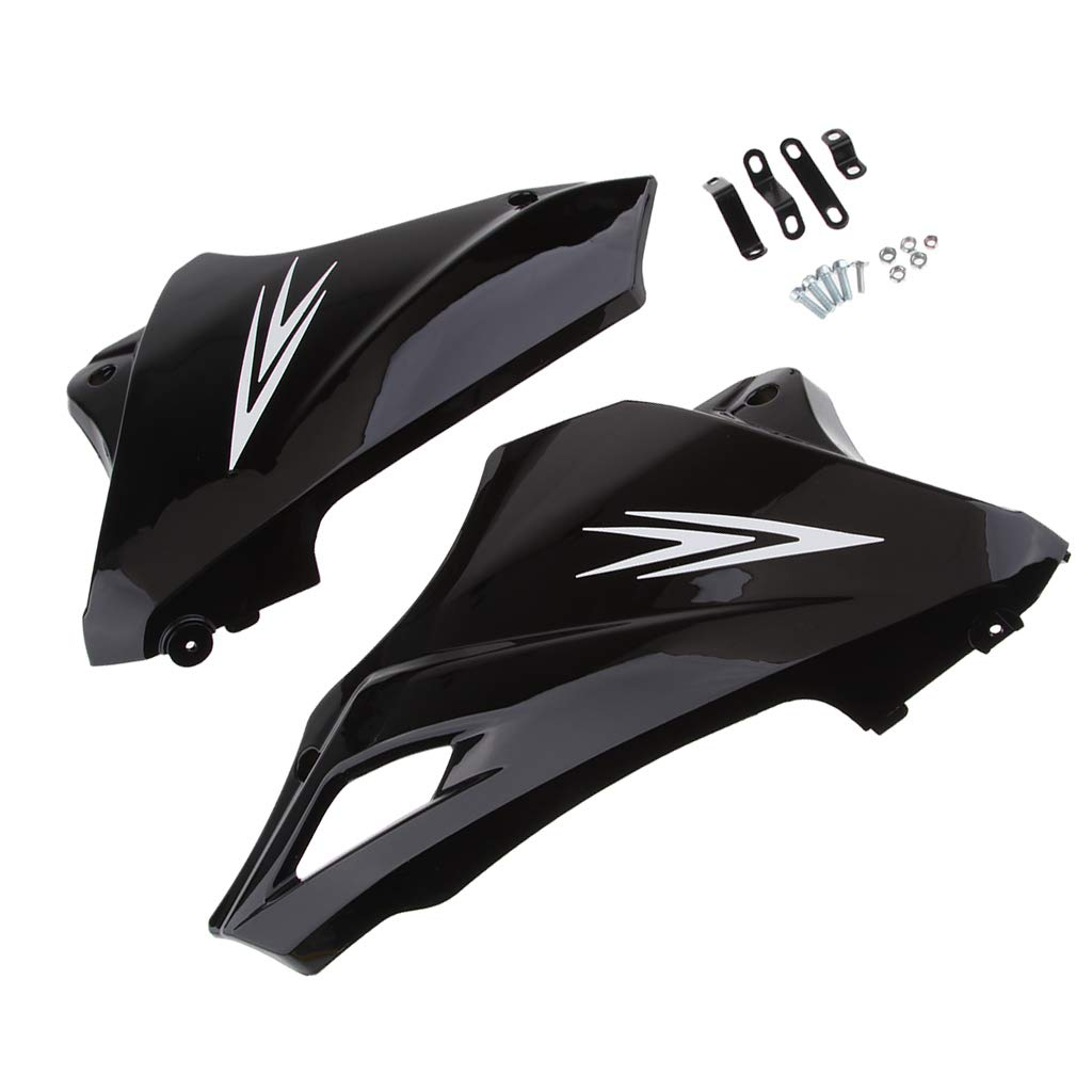 Flameer Modified Motorbike Black Under Engine Lower Cowl Shrouds Belly Pans Replacement Fitting for Honda Grom MSX 125
