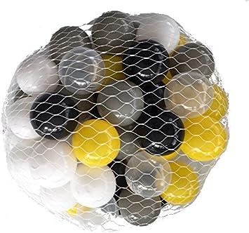 Balles balles pour salle de bain Mix jaune Mélange de gris, noir, blanc et  transparent