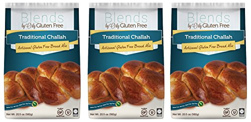 Gluten Free Challah Mix - Baking Mix for Gluten Free Challah Bread, Gluten Free Traditional Challahs, Nut Free, Dairy Free, Soy Free from Blends by Orly 61.5 OZ (Pack of 3) (Sandwich Bread Mix)