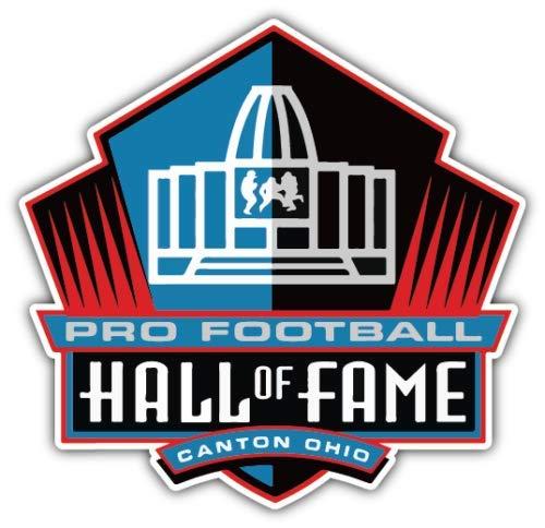 - Vinyl Sticker Pro Football Hall of Fame NFL Football Car Bumper Laptop Water Botle Window 5 X 4 INCH