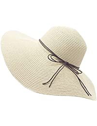 Floppy Straw Hat Large Brim Sun Hat Women Summer Beach Cap Big Foldable  Fedora Hats for c6cb652c3de