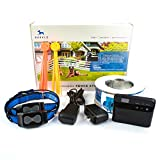 Underground Dog Containment System by Barklo Wireless Electric Perimeter Fence with 2 Shock Collars for Medium to Large Dogs And Pets