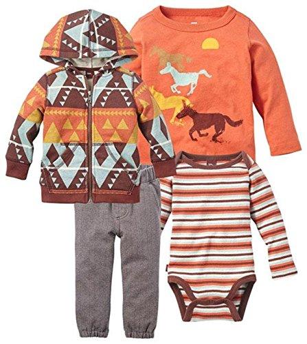 (Tea Collection Baby Boys' Galopante Set - Multicolor - 12-18 Months)