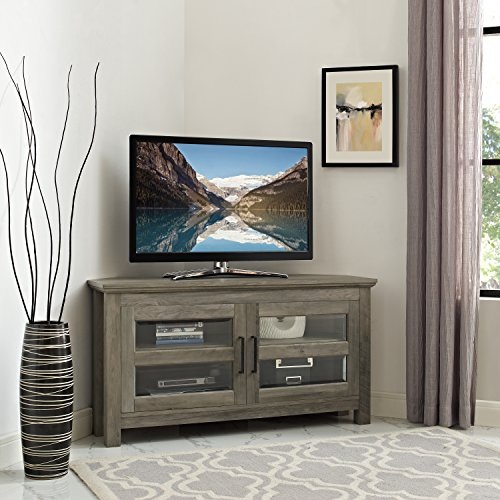 New 44 Inch Corner Television Stand - Grey Wash Color by Home Accent Furnishings