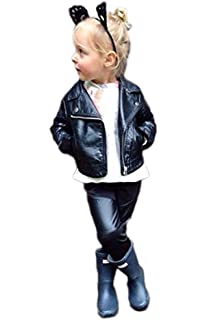 Amazon Com Gbsell Toddler Baby Kids Girls Boy Leather Biker Jacket