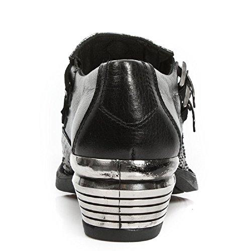 New Rock Männer Dallas Leder Bunt Stiefel M.7934PT-S2 Mehrfarbig