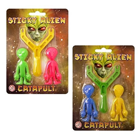 Novelty Catapult Alien Family Party Toy Xmas Stocking Fillers