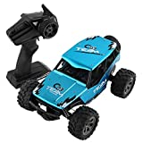 Aobiny RC Cars, Remote Control Off-Road Truck, 2WD Rock Crawler -1/18 Rechargeable Remote Radio Control Truck Off Road RC Car (Blue)