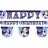 Cinderella Theme Happy Birthday Jointed Letter Banner