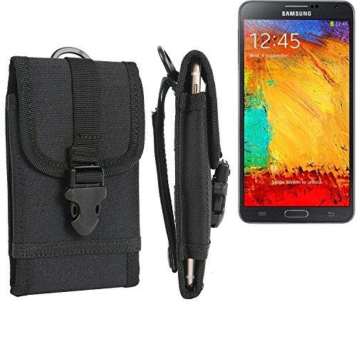 bolsa del cinturón / funda para Samsung Galaxy Note 3, negro | caja del teléfono cubierta protectora bolso - K-S-Trade (TM)