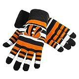 FOCO NFL Cincinnati Bengals Team Logo Stretch Gloves, Team Color, One Size