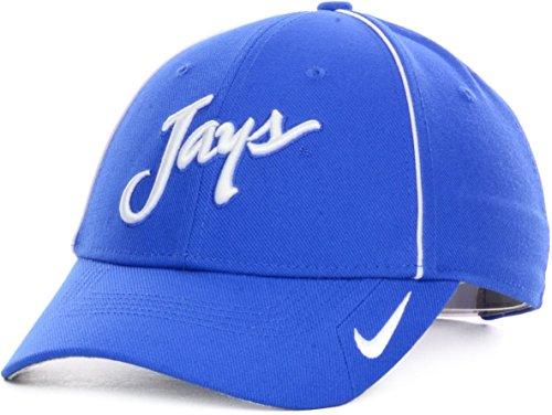 - Nike Creighton Blue Jays Coaches Legacy91 Velcro Strapback Dri-Fit Cap Hat (One Size, Blue)