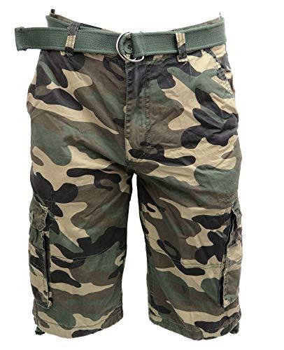Tank Men's Light Twill Cargo Shorts, Wood Camo, 40