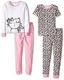 Gerber Baby 4 Piece Cotton Pajama Set, Kitty, 24
