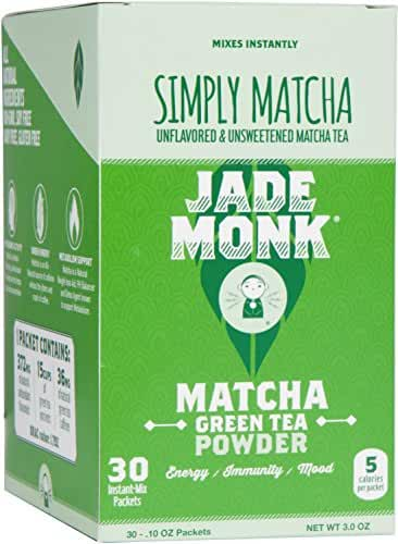 On The Go Matcha Green Tea Powder - Enjoy Anytime, Anywhere - All Natural, Mixes Instantly - Perfect For A Crazy Busy Lifestyle - Simply Matcha, 30 Servings (Simply Matcha, 30 Pack)