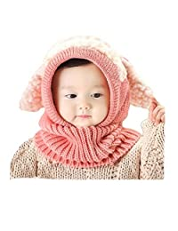 Baby Girls Boys Winter Hat Scarf Woolen Earflap Hood Scarves Skull Caps