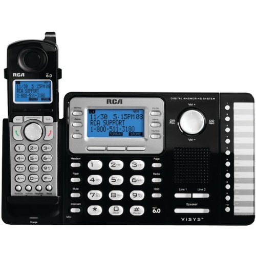 RCA 25252 2-Line Expandable Cordless Phone with Caller ID