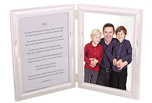 Gift for Dad - A Heartfelt poem + your personalized photo in a beautiful silver-plated double picture frame. Makes a great Father's Day gift or Birthday present, or just to say