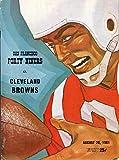 San Francisco 49ers vs Cleveland Browns Football Program (August 20, 1961`) ** Kezar Stadium San Francisco**