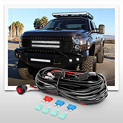 Nilight LED Light Bar 2PCS 60W 4 Inch Flood Spot Combo LED Work Light Pods Triple Row Work Driving Lamp with 12 ft Wiring Harness kit - 2 Leads,2 Year Warranty: Automotive