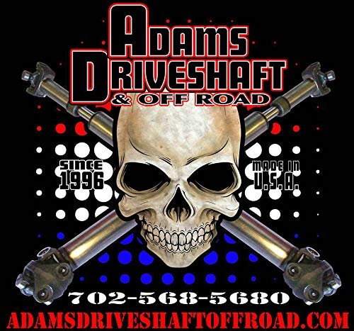 Adams Driveshaft CUSTOM MADE Driveshaft with Rough Trail Slip Yoke Eliminator Kit SYE Package for Jeep Wrangler TJ LJ XJ Cherokee 231J T-cases Only Crown 26, Extreme Duty Solid U-Joints