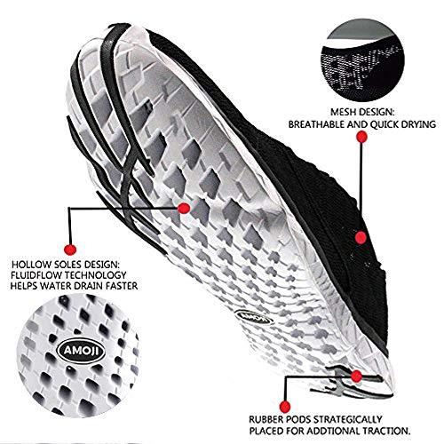 Black Aqua Water Sneakers Shoes Amoji Unisex Athletic 1TfPqBYz
