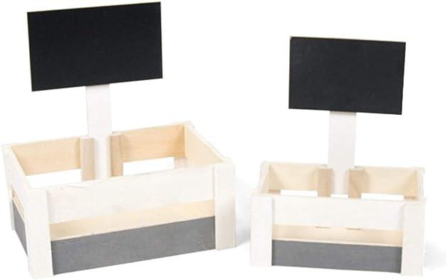 Gerimport Set de 2 Cajas de Madera Byron Medidas de la Caja Grande ...