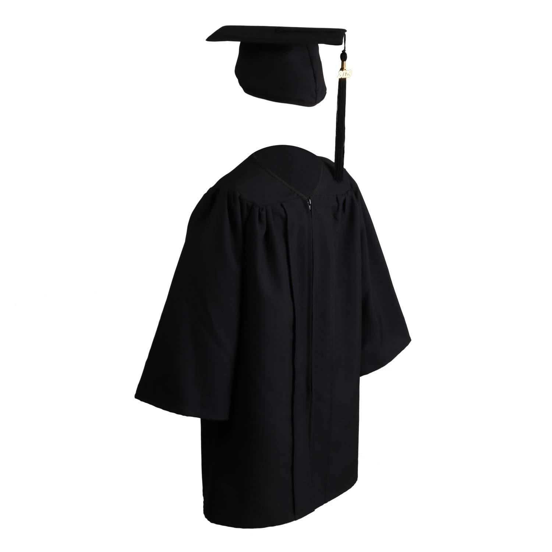 91302948b8 OSBO GradSeason Unisex Matte Kindergarten Graduation Gown Cap Tassel Set  2019 Black