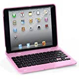 EVERSTAR® iPad mini Clamshell Laptop Style Bluetooth Keyboard Case for Apple iPad mini / iPad 7.9 inch. Turn Your Tablet Into a 7″ Laptop Style. (Pink)