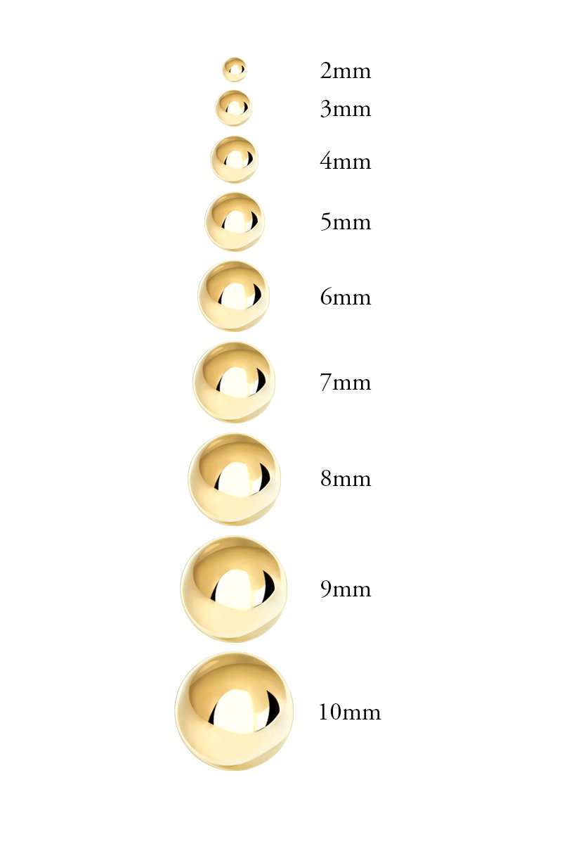 Premium 14K Yellow Gold Ball Stud Earrings (9mm - Yellow Gold) by Honolulu Jewelry Company (Image #4)