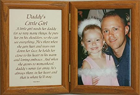 5x7 hinged daddys little girl picture poem photo frame a wonderful gift idea for