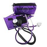 EMI #305 PURPLE Aneroid Sphygmomanometer Blood Pressure Monitor with Dual Head Stethoscope Set Kit