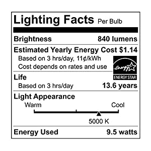 Ecosmart 8 Pack A19 - 60 Watt Equivalent Daylight (5000K) LED Light Bulb