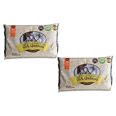 4 Lb 100% Organic Royal White Quinoa (Pack of 2 bags of 2 Lb each = 4 Lb)