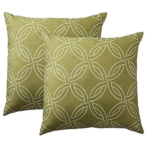 Threshold 2-Pack Ring Toss Pillows - Green (18x18