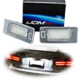 iJDMTOY OEM-Fit 3W Full LED License Plate Light Kit For BMW 1 2 3 4 5 Series X3 X4 X5 X6, Powered by 24-SMD Xenon White LED & CAN-bus Error Free