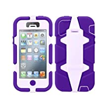 Griffin 605412-SFPL Survivor Case for iPhone 5 - 1 Pack - Retail Packaging - Purple/Lavender