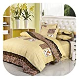 Rural Princess Printing Lovely Flowers 4pcs/3pcs Quilt Cover Sets Soft Polyester Bed Linen Flat Bed Sheet Set Pillowcase,9,Full Cover 150x200cm