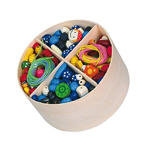 600 pcs Wooden Lacing Beads